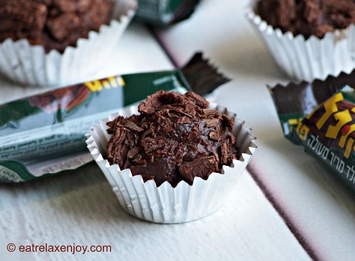 כדורי שוקולד מקופלת וקרמל