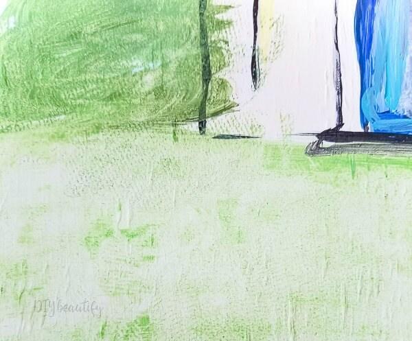paint grassy field