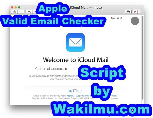 Script Apple Valid Email Checker 2018 (CLI)