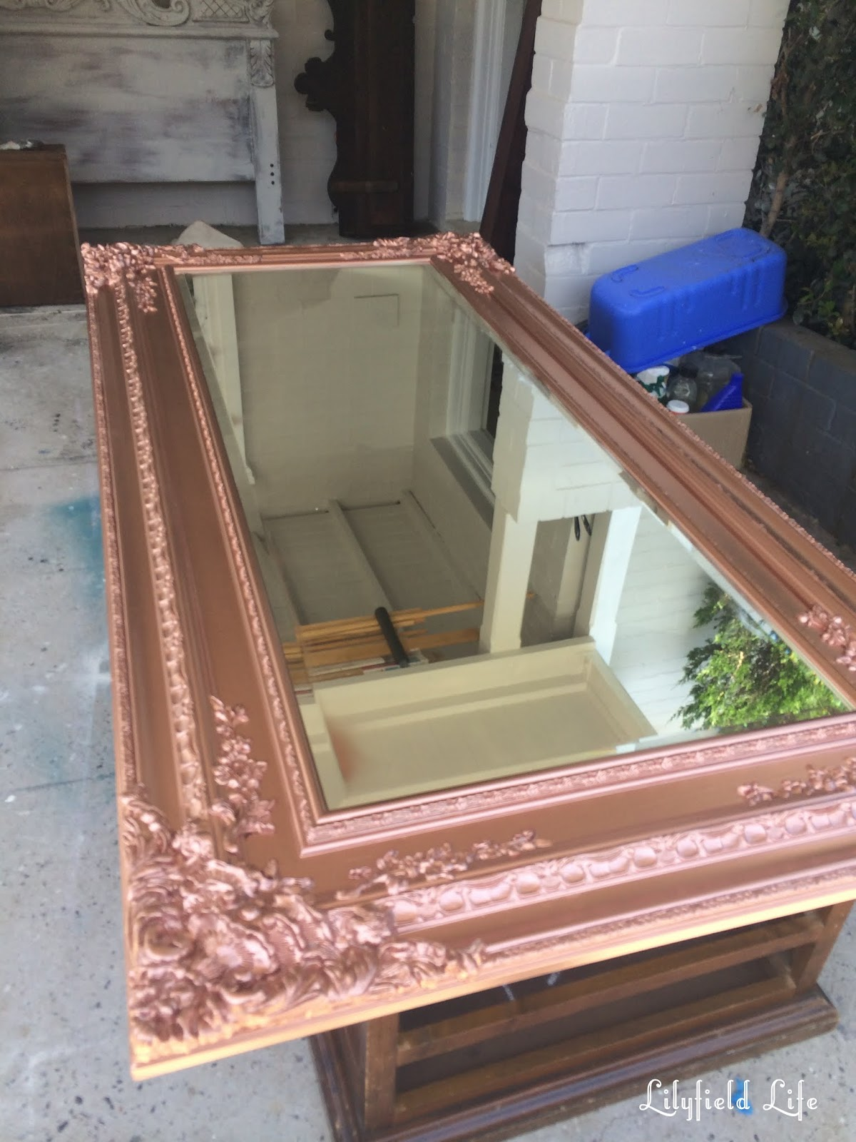 Lilyfield Life: Antique Rose Gold Mirror (from aged cream)