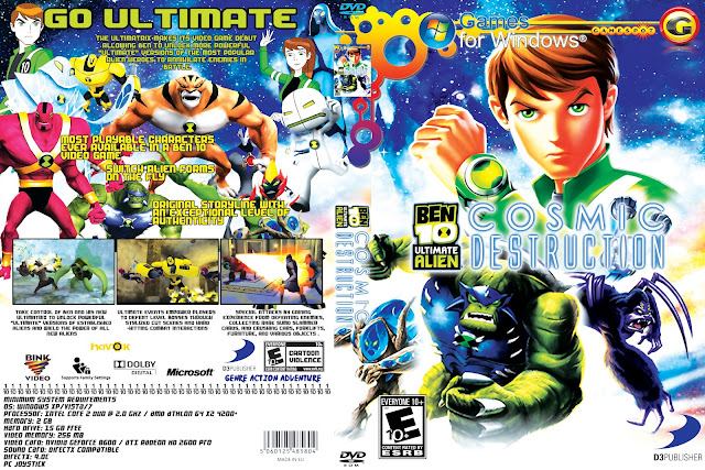 Capa Ben 10 Ultimate Alien Cosmic Destruction PC