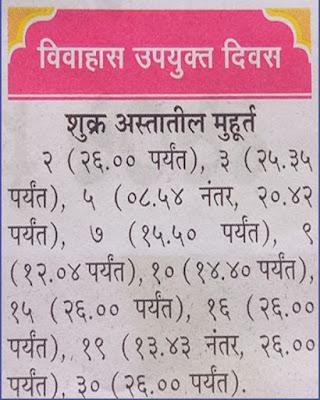 Marathi Shubh Vivah and Shadi Muhurat in March 2021