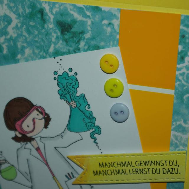 [DIY] Grußkarte für kleine und große Chemikerinnen, Physikerinnen, Biologinnen und sonstige Wissenschaftlerinnen.