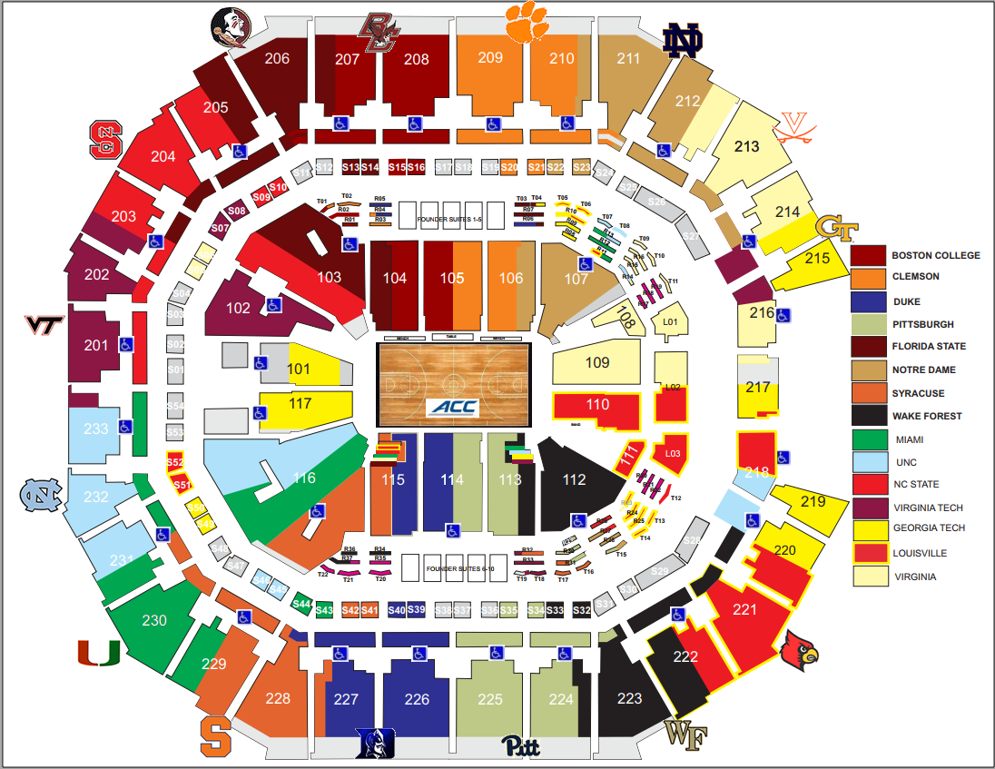2019 Acc Tournament Seating Chart Acc Basketball Rx