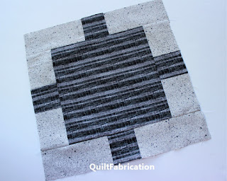 a block for the Monochrome quilt pattern by QuiltFabrication
