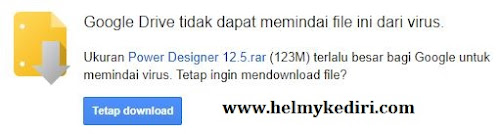 mendownload dari browser