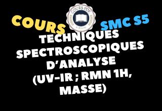 COURS TECHNIQUES SPECTROSCOPIQUES D'ANALYSE (SMC S5 PDF)