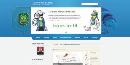 Mengintip Situs Resmi Diskominfo Subang. Dari Mulai Kurang Update sampai Membosankan