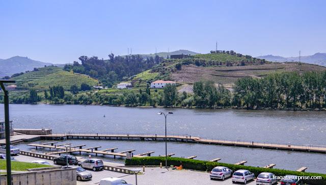 Cais turístico de Peso da Régua, no Rio Douro, Portugal