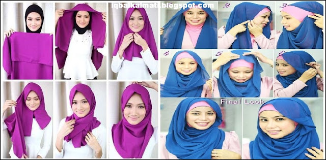 Hijab Style Tutorial for Abaya