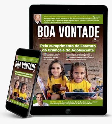 Revista BOA VONTADE destaca a importância do Estatuto da Criança e do Adolescente