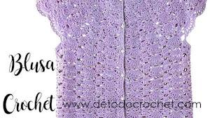 Blusa crochet de delicado diseño / Patrones