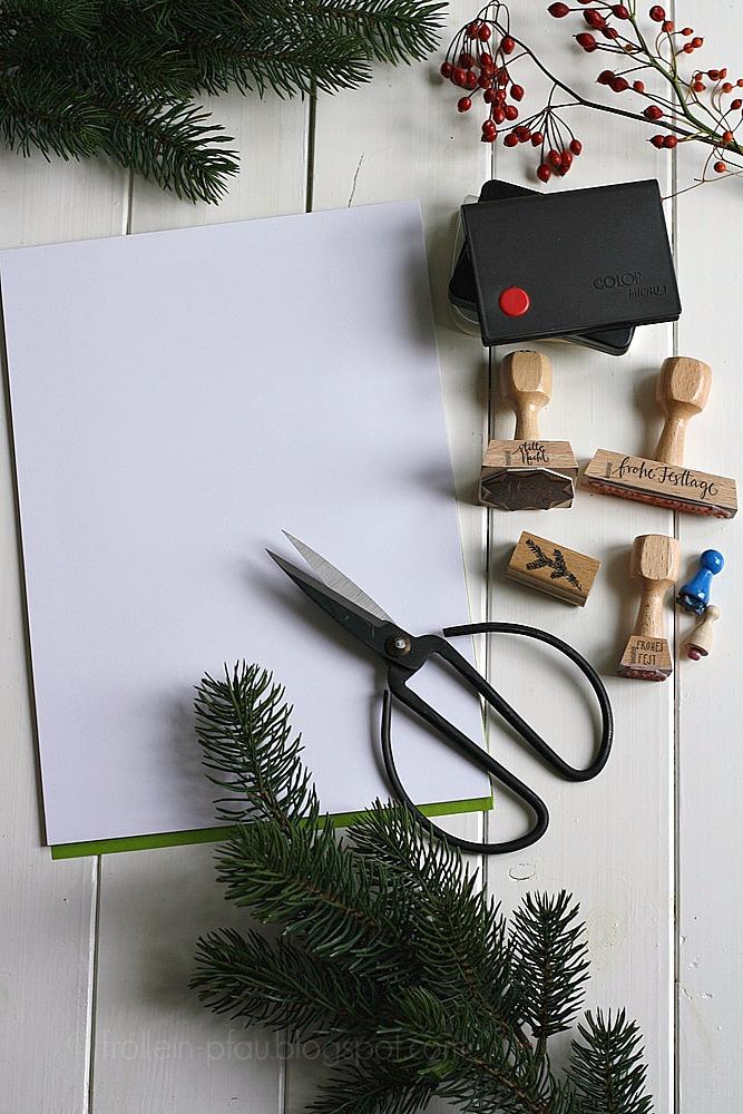 Selbstgemachte Weihnachtskarten basteln DIY, Weihnachten, gestempelte Weihnachtskarten, Weihnachtsgrüße, Stempel, bastis rike, Weihnachtspost, Frollein Pfau