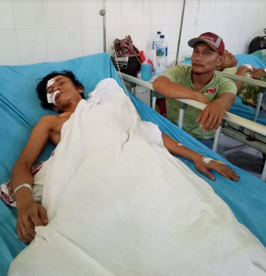 Korban saat berada di rumah sakit.