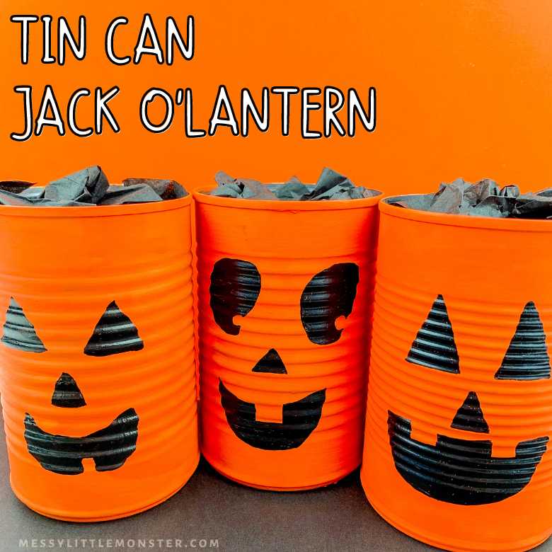 Tin can Jack O Lantern craft