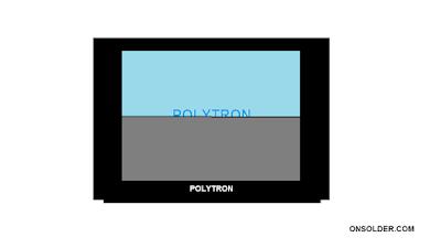Langkah Memperbaiki TV Polytron Layar hanya nyala separuh layar dari tengah keatas