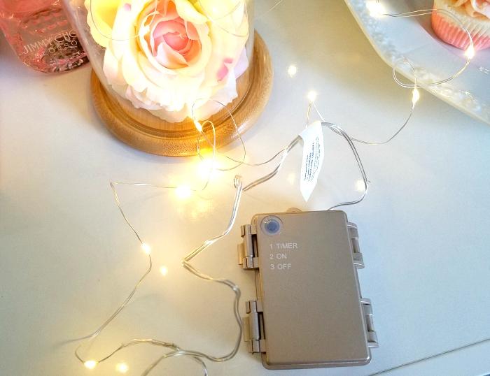 Geschenkidee Muttertag 2018 - Glasglocke mit Micro Lichterkette von Lights4Fun & schnelle DIY Idee unter 20 Euro 3