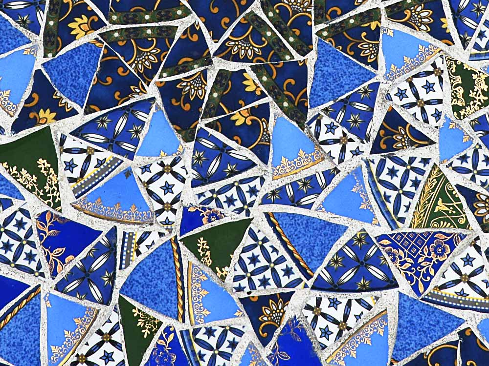 mosaic detail with triangular peices