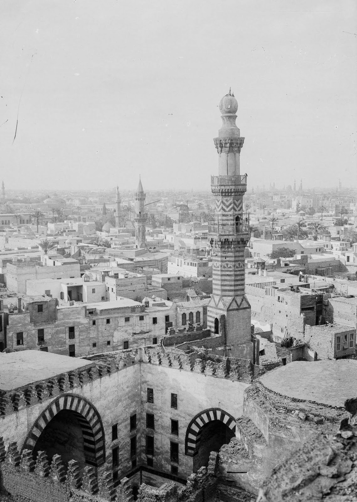 The view from the Mosque of Ibn Touloun. 1900.
