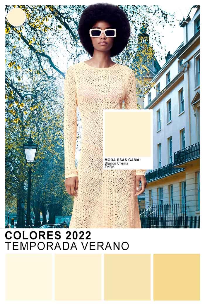 blanco crema color de moda verano 2022