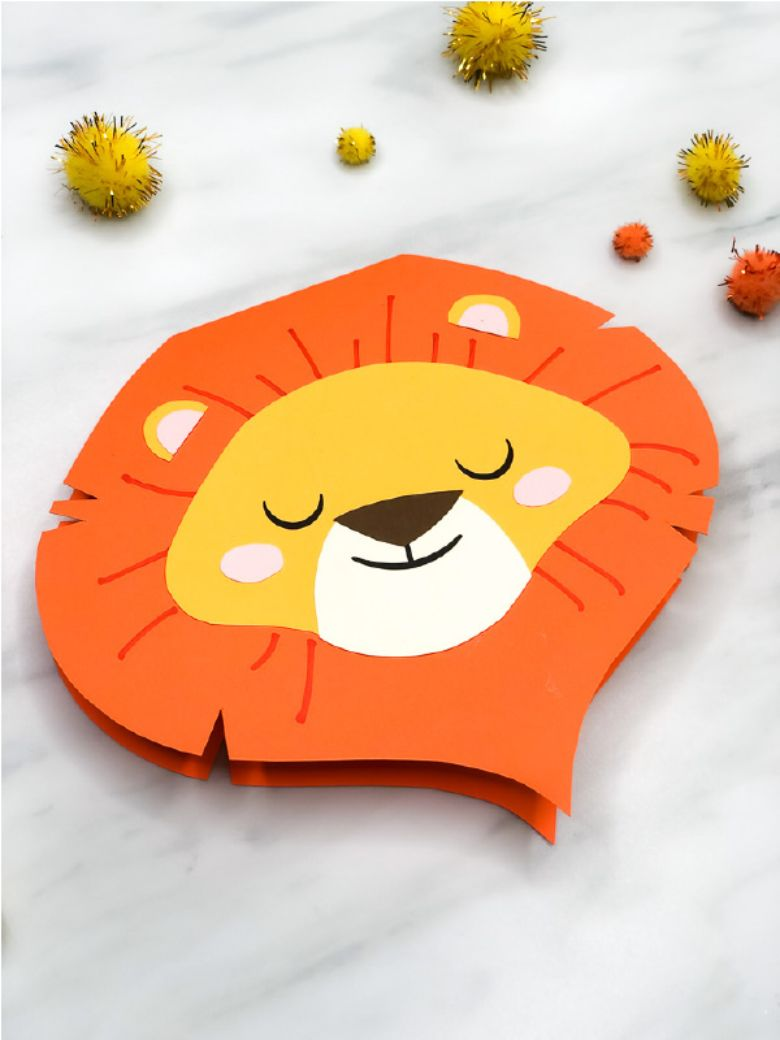Homemade Lion Father's Day Card