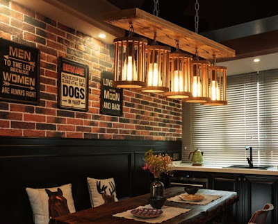 rustic lighting in an interior