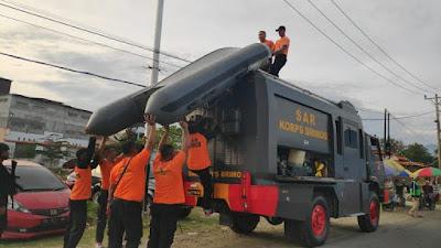 Pelayanan SAR Yon A Pelopor Satbrimobda Sulteng di Lokasi Rekreasi