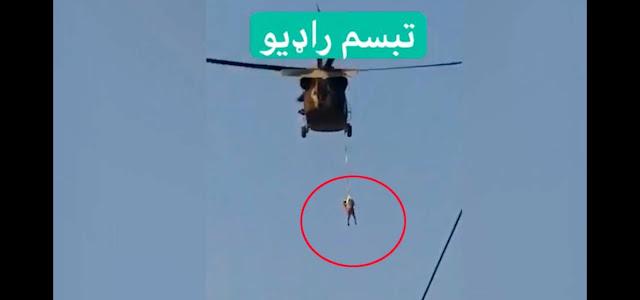 """На видео попал вертолёт талибов, которые """"подвесили человека"""", и вот что стоит за этим роликом"""