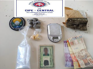 Cipe Central apreende drogas em Maracás