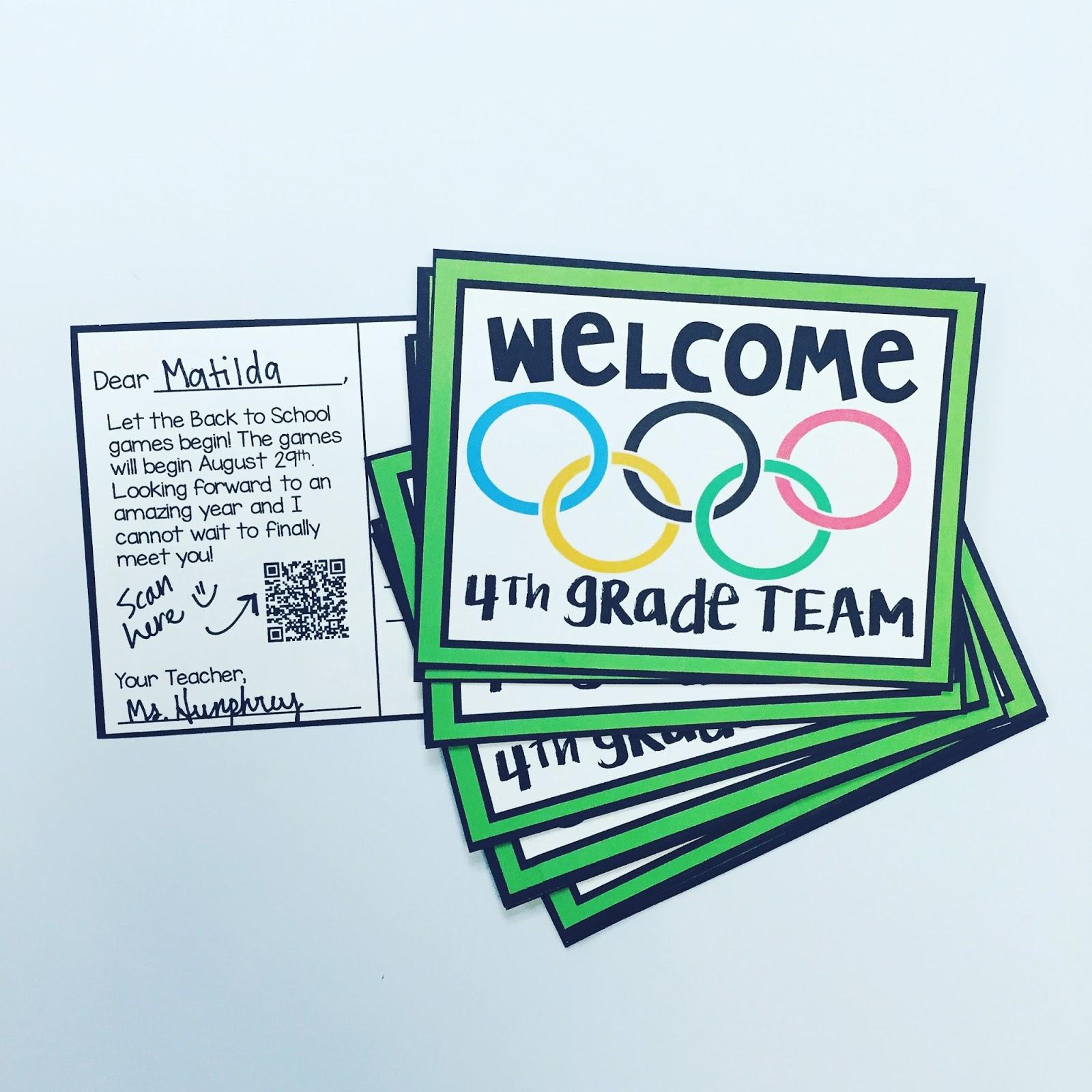 Teaching And So Fourth Editable Postcard Templates - Editable postcard template