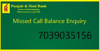 psb bank account balance enquiry number,punjab and sind bank account number format