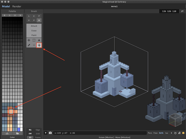 Replace Color Tool in MagicaVoxel