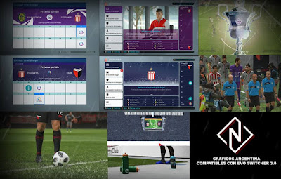 PES 2019 Argentina Graphics Pack by Nahue Facemaker