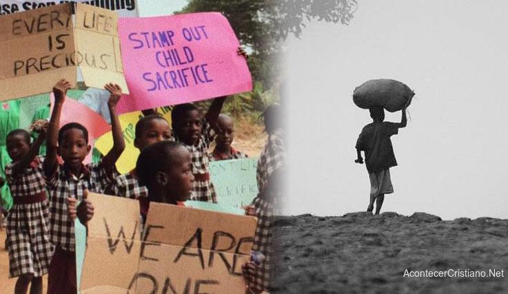 Protesta contra sacrificio de niños en Uganda