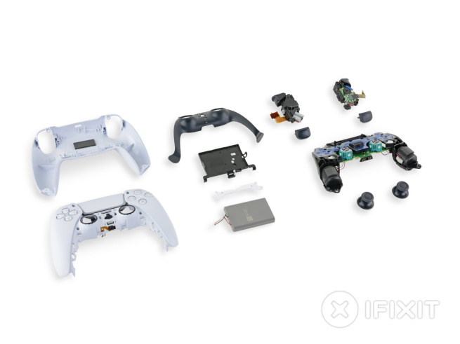 disassembled PlayStation 5 Dual Sense
