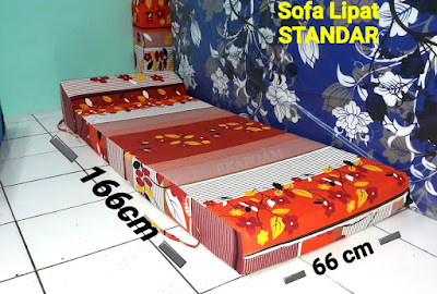 Sofa lipat inoac standard saat di fungsikan sebagai kasur inoac normal