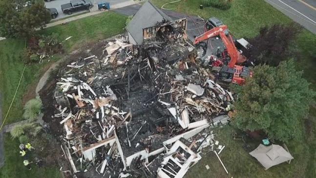 Divulgada imagem da residência do pastor e sua esposa que morrem  incêndio neste domingo