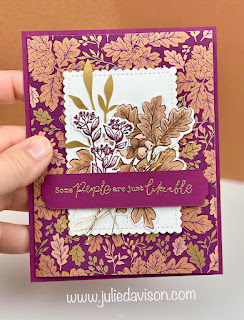 Stampin' Up! Blackberry Beauty Suite Pocket Card + Video Tutorial ~ www.juliedavison.com ~ July-December 2021 Mini Catalog ~ #stampinup #saleabration #juliedavison