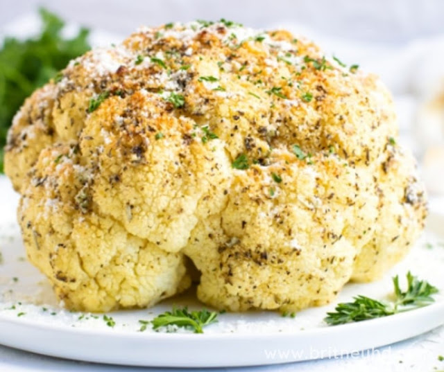 GARLIC AND HERB WHOLE ROASTED CAULIFLOWER
