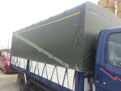 Xe tải hyundai hd600 thùng mui phủ bạt