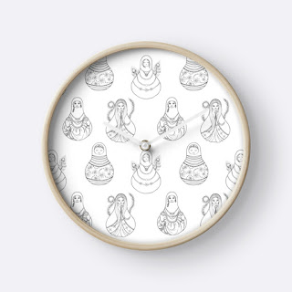 matryoshka doll wall clock