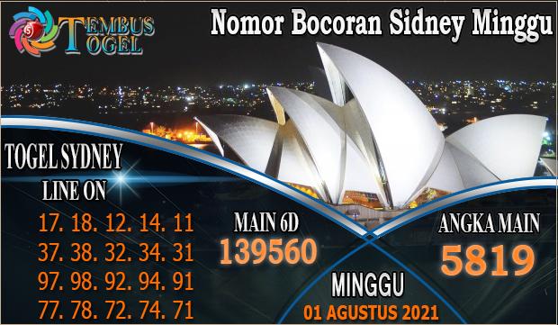 Nomor Bocoran Sidney Minggu Tanggal 01 Agustus 2021