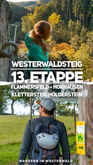 WesterwaldSteig 13. Etappe Flammersfeld – Horhausen  Klettersteig Hölderstein 22