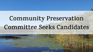 Community Preservation Committee seeks At-Large Candidates