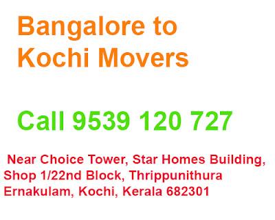 bangalore to kochi movers