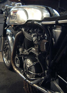 sportster ironhead cafe racer with norton featherbed frame