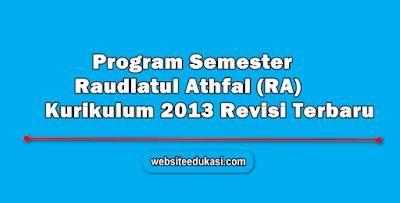 Promes RA Kurikulum 2013 Revisi Terbaru Lengkap