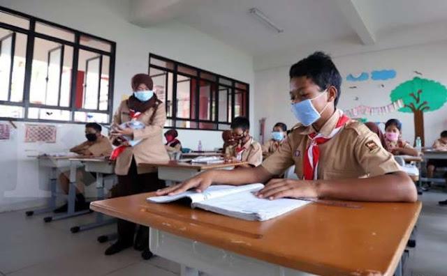 Persiapan Sambut Belajar Tatap Muka, Sekolah Ini Rancang Simulasi Protokol Kesehatan Covid-19 di Sekolah