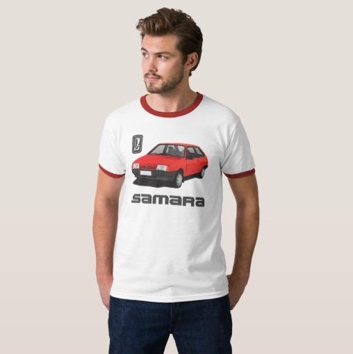 VAZ-2109 Lada Samara automobile t-shirt soviet