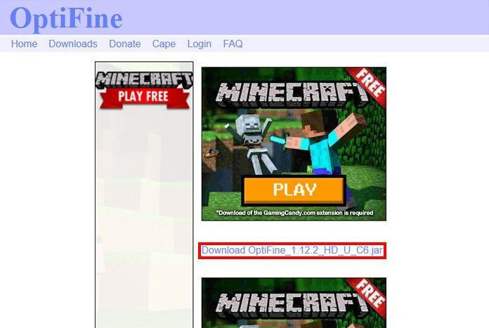 install optifine
